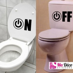 Sticker Wc on-off