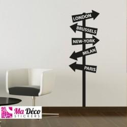 Sticker panneaux de direction