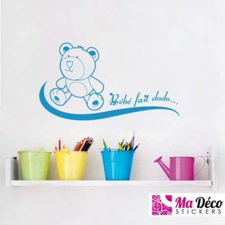 sticker b b baby pas cher stickers enfants discount stickers muraux madeco stickers. Black Bedroom Furniture Sets. Home Design Ideas
