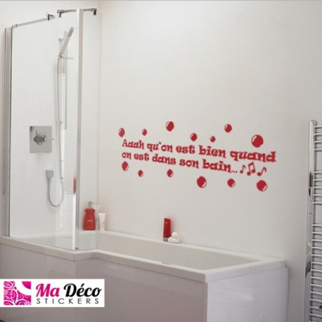 Sticker bain cheap stickers quotes discount wall - Stickers miroir salle de bain ...