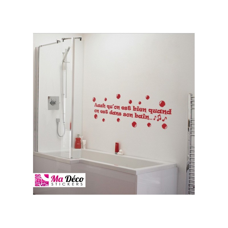 Sticker bain cheap stickers quotes discount wall - Porte gobelet salle de bain ...