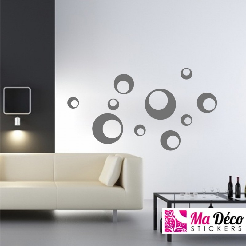 ronds design pas cher accueil discount stickers muraux madeco stickers. Black Bedroom Furniture Sets. Home Design Ideas