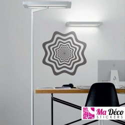 Sticker illusion zig zag