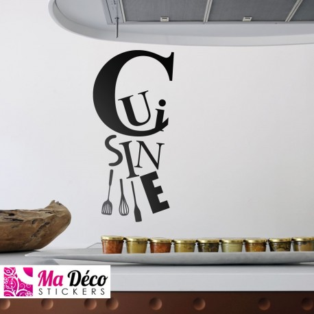 Sticker cuisine cheap home discount wall stickers - Stickers meubles cuisine ...
