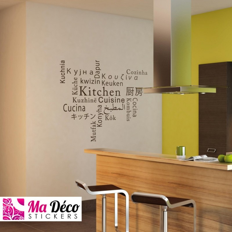 Kitchen cuisine cozinha keuken pas cher stickers for Sticker mural cuisine
