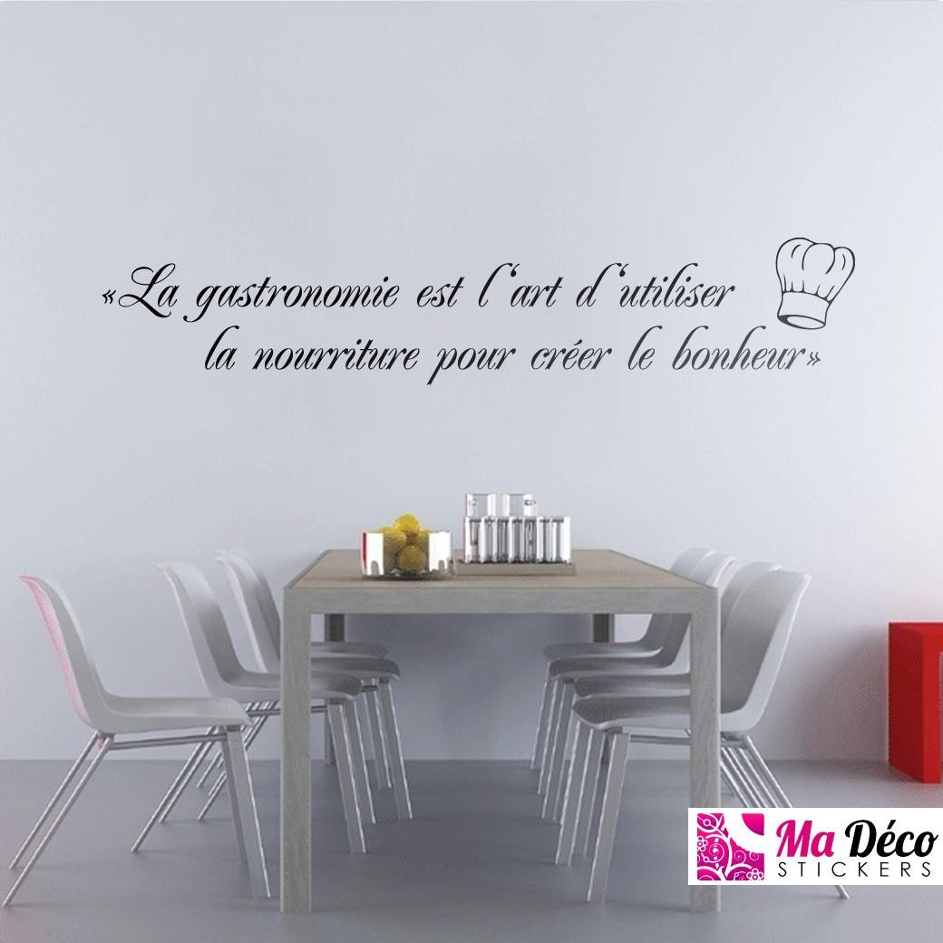 stickers citation cuisine resine de protection pour peinture. Black Bedroom Furniture Sets. Home Design Ideas