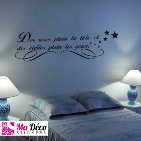 Stickers Citation Rêves étoiles Cheap Home Discount Wall