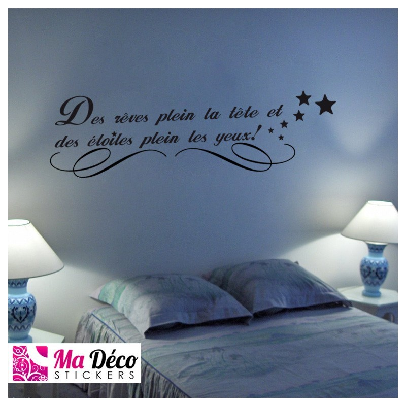 Stickers citation r ves toiles cheap home discount - Stickers etoile chambre bebe ...