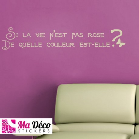 Sticker citation la vie en rose