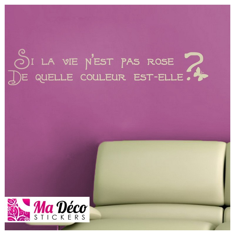Sticker citation la vie en rose cheap   Stickers Quotes discount