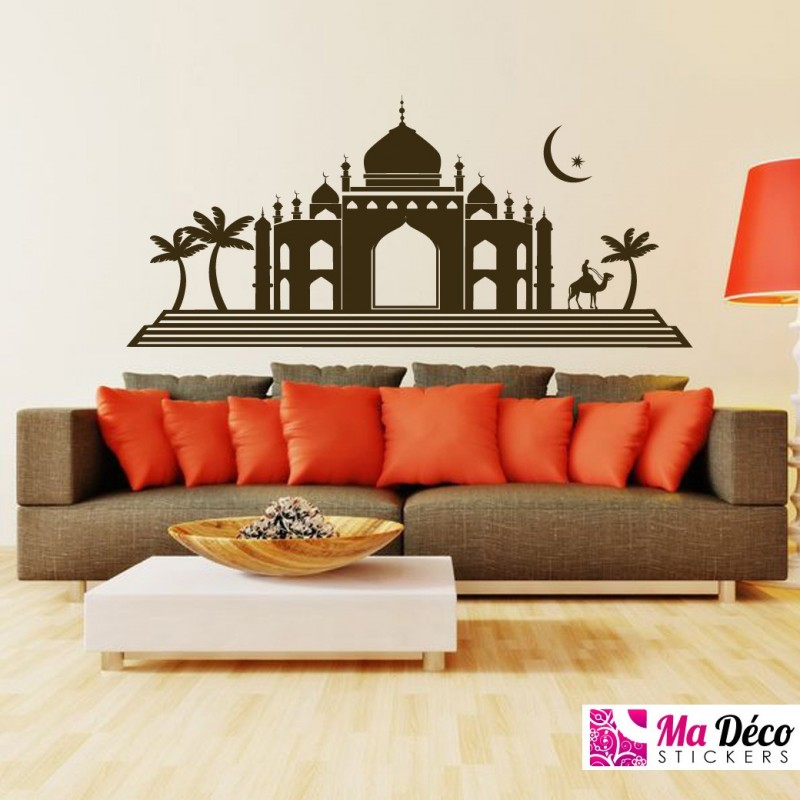sticker masjid paysage pas cher stickers monde discount stickers muraux madeco stickers. Black Bedroom Furniture Sets. Home Design Ideas