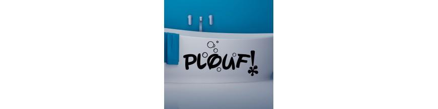 Sticker salle de bain pas cher stickers salle bains for Stickers salle de bain pas cher