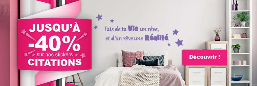 Les promotions stickers Citations