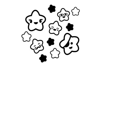 Stickers-Enfants-Filles-étoiles-Madéco-stickers